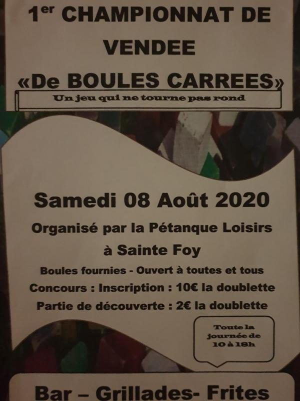 Affiche boules carrees 2